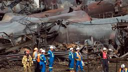 Kanada Zug mit Fracking-Öl explodiert