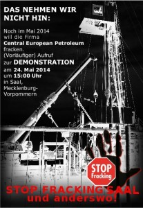 Demonstration gegen Fracking 24.5.2014 in Saal